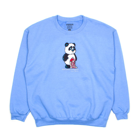 Panda (Embroidered) / Carolina Blue / Crew Sweatshirt