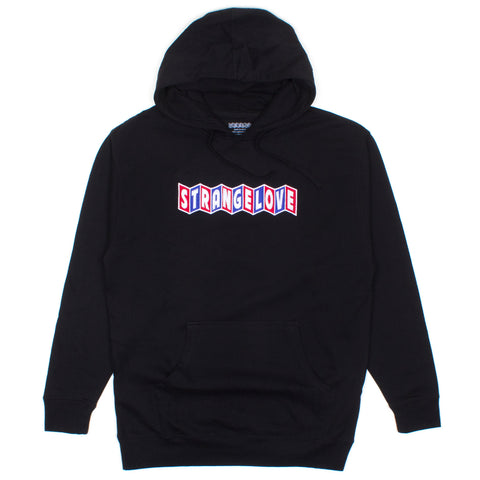 CineLogo (Embroidered) / Black / Hooded Sweatshirt