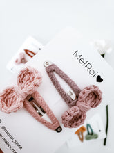 Load image into Gallery viewer, Crochet Hair Clips set of 2