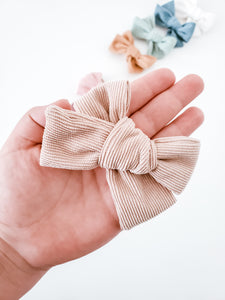 Corduroy Headband Bow