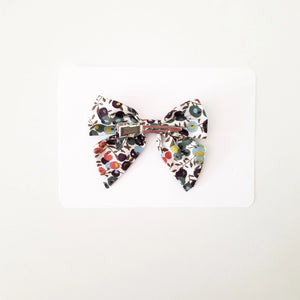 Floral Earth Bow Clip