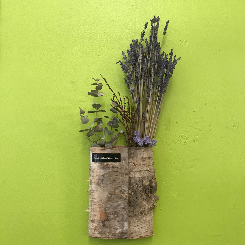 HD-41 Wall Mounted Dried Lavender Arrangement