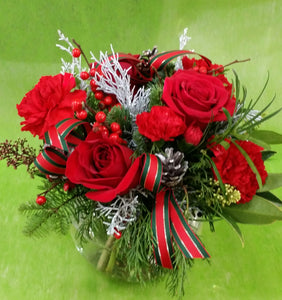 HX-17 Red Christmas Centerpiece