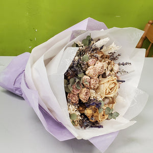 HD-04 Beige & Purple Dried Bouquet