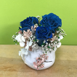 HD-47 Small Dried Blue Rose Arrangement