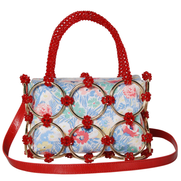 JULIANA VINTAGE BEADED PARTY BASKET