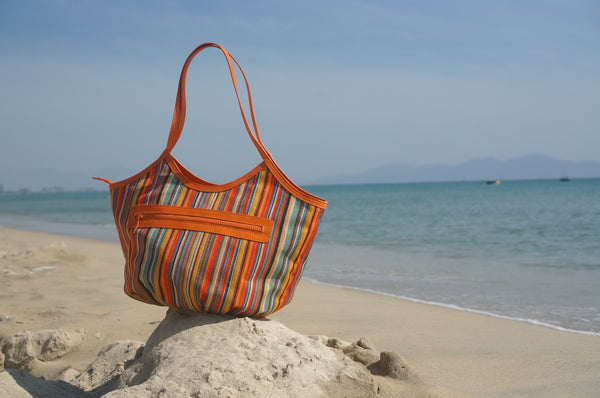 Summer Totes : Marrakech Striped Bucket