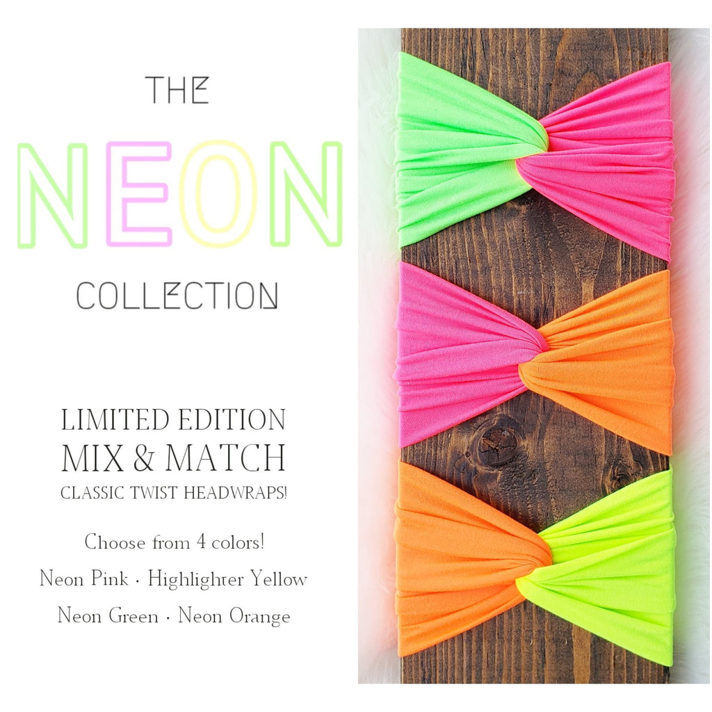 •LIMITED EDITION• Neon Mix and Match Classic Twist