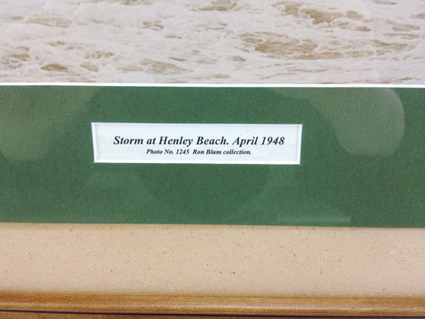Historical 1948 ADELAIDE HENLEY BEACH Storm Picture Frame   eXibit collection