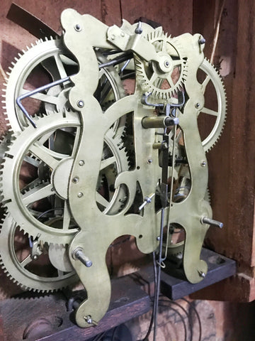 Antique Pettibone and Peters Wall Clock | eXibit collection