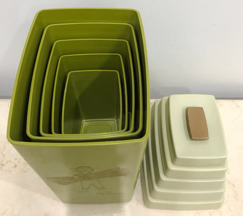 Vintage set of 5x Retro Kitchen Canisters | eXibit collection