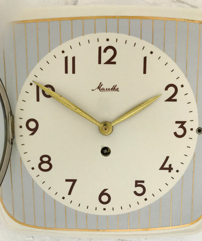 Vintage MAUTHE Ceramic Wall Clock   eXibit collection