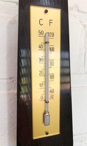 Vintage Wall Barometer & Thermometer   eXibit collection