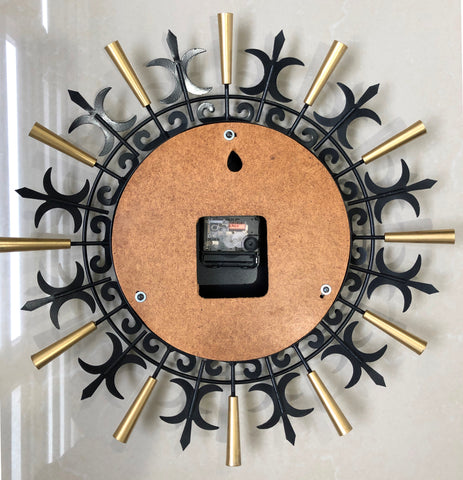 Vintage FOCAL Starburst Battery Wall Clock   eXibit collection
