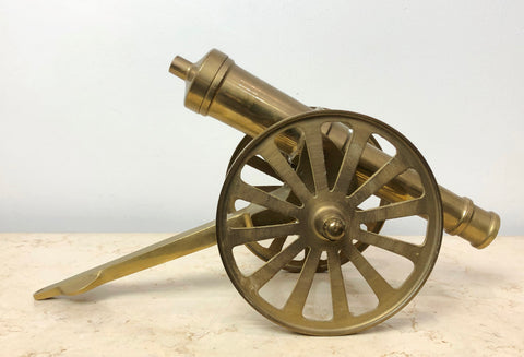 Vintage SOLID Brass Military Cannon | eXibit collection