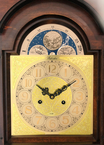 Vintage 31 Day Belvedere Chime Grandfather Clock | eXibit collection