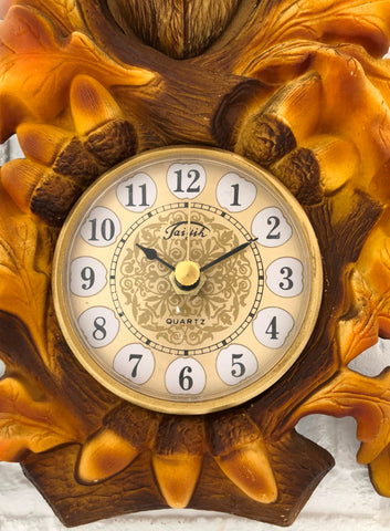Vintage Stag Deer Head Battery Wall Clock   eXibit collection