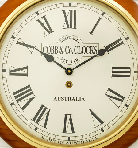 Vintage Style COBB & Co Station Battery Wall Clock   eXibit collection