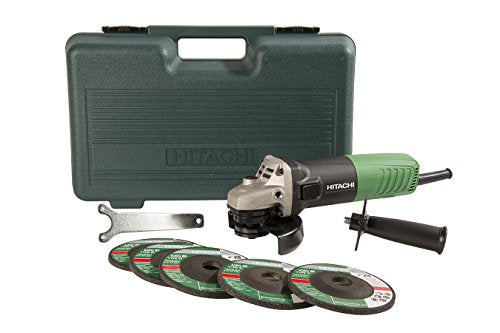 Hitachi Angle Grinder with 5 Abrasive Wheels