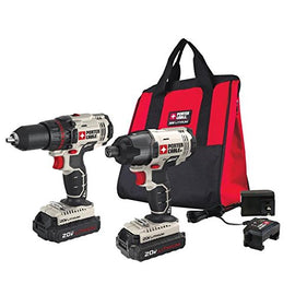 PORTER CABLE Cordless Drill Driver and Impact Driver Combo Kit
