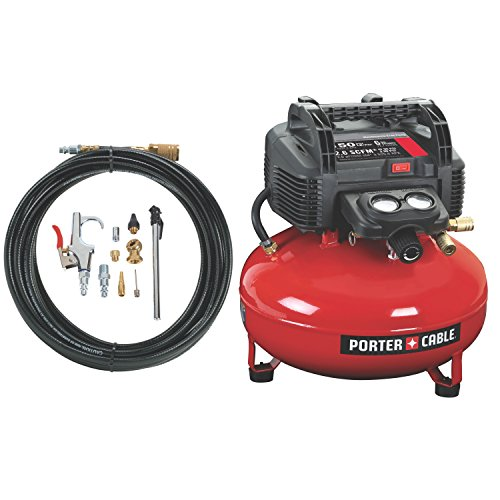 PORTER CABLE Oil Free UMC Pancake Compressor with 13 Piece Accessory Kit
