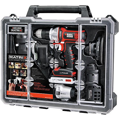 BLACK and DECKER Matrix 6 Tool Combo Kit with Case