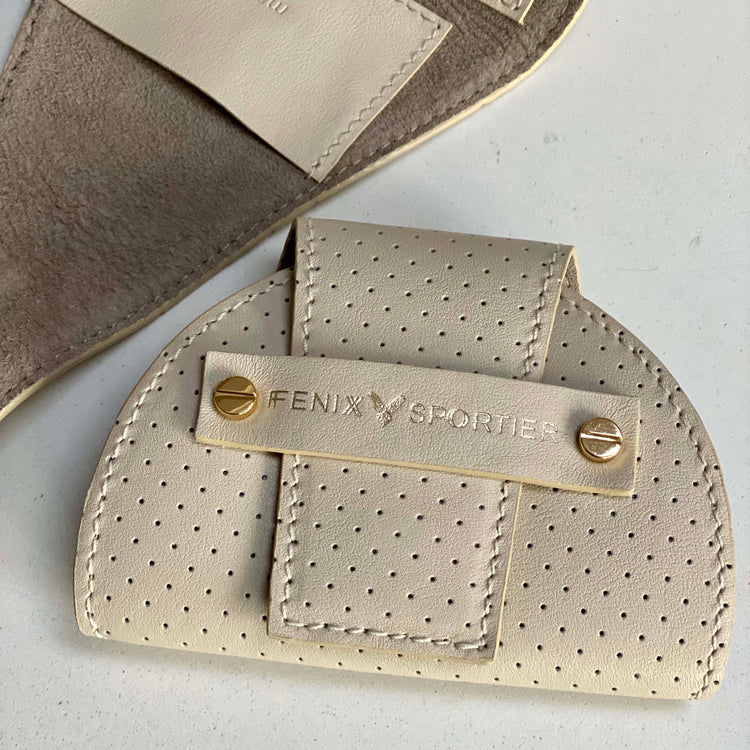Tennis Lovers Wallet (Butter Leather / Stone Suede / Gold)