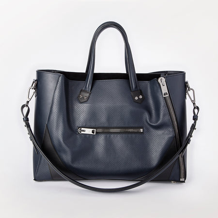 Major Bag (Navy Leather / Black Trim / Gunmetal Hardware)