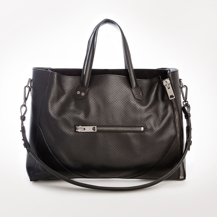 Major Bag (Black Leather / Gunmetal Hardware)