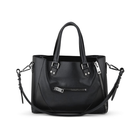 One Bag (Black Leather w/Gunmetal Hardware)