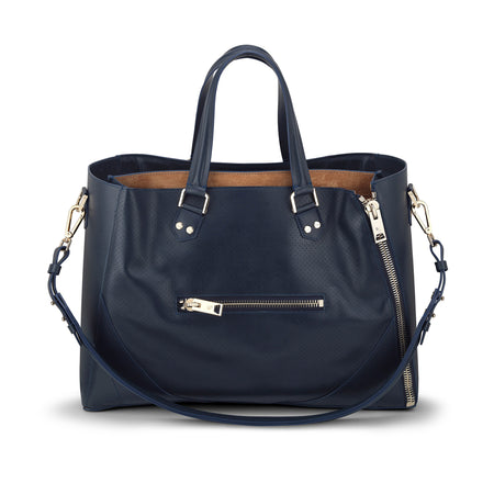 Major Bag (Navy Leather / Gold Hardware)