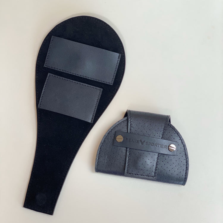 Tennis Lovers Wallet (Navy Leather / Black Suede / Gunmetal)