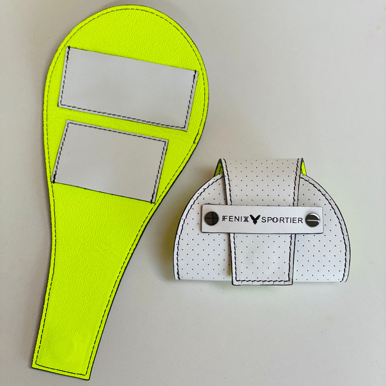 Tennis Lovers Wallet (White Leather / Black Detail / Neon Leather)