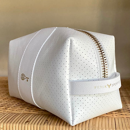 24/7 Bag - white leather / gold zipper