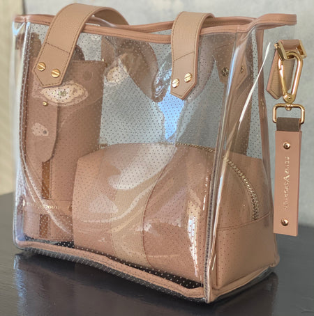 24/7 Bag - blush leather / gold zipper