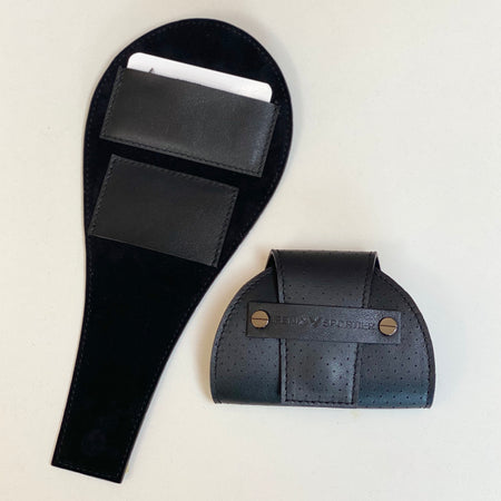 Tennis Lovers Wallet (Black Leather / Black Suede / Gunmetal)
