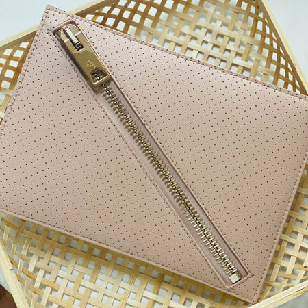 Just Let Go Clutch - Blush/Gold