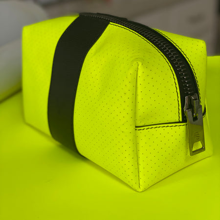24/7 Bag - neon yellow leather / black trim / gunmetal zipper