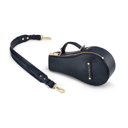 B Bag (Navy Leather / Gold Hardware)