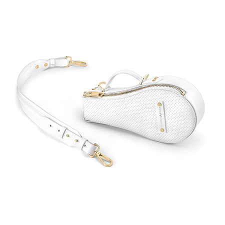B Bag (White Leather / Suede Interior / Gold Hardware)