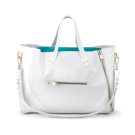 Major Bag (White Leather / Gold Hardware)
