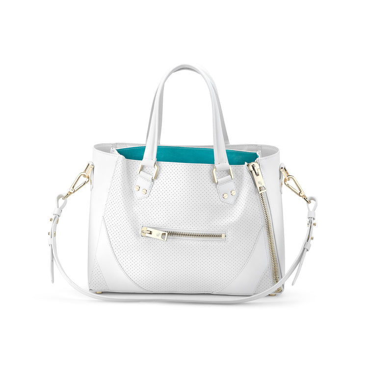 One Bag (White Leather w/Gold Hardware)