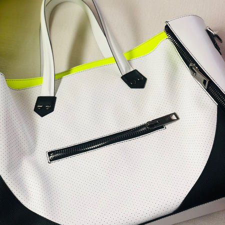 Major Bag (White Leather / Black Trim / Gunmetal Hardware)