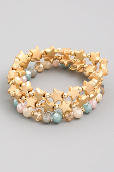 Beaded Star Stretch Bracelets