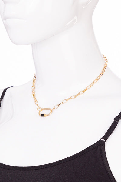 Carabiner Chain Link Necklace