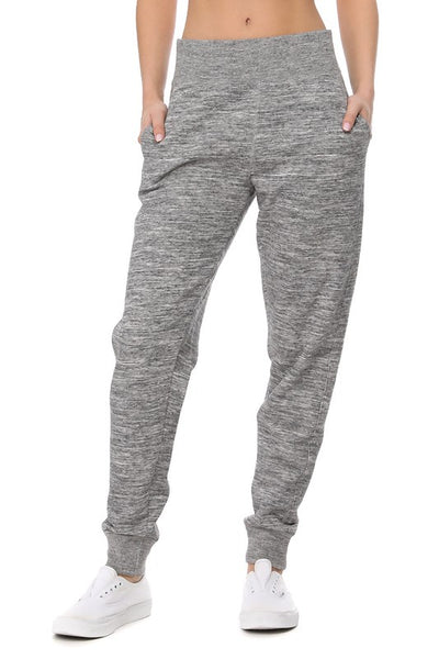 Elastic Waistband Brushed Jogger