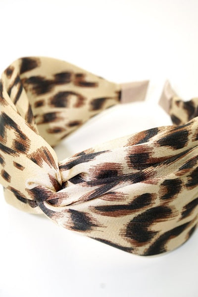 Top Knot Leopard Headband