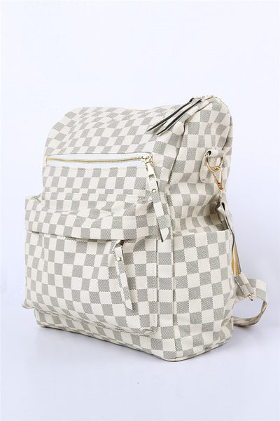 Plaid Pattern Convertible Bag