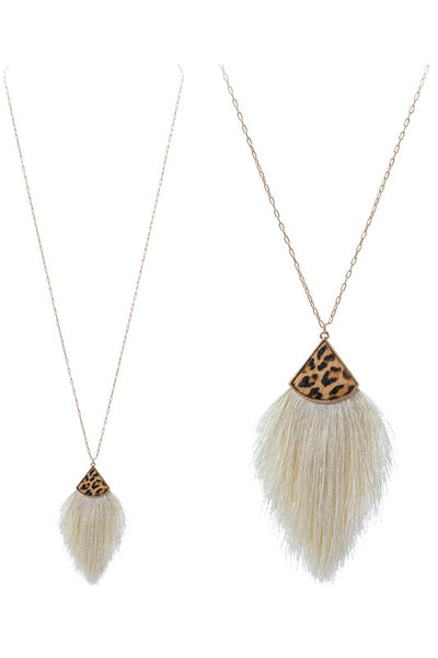 Tassel Fringe Leopard Necklace