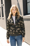 Inside Velvet Quilted Reversible Camo Bomber Jacket